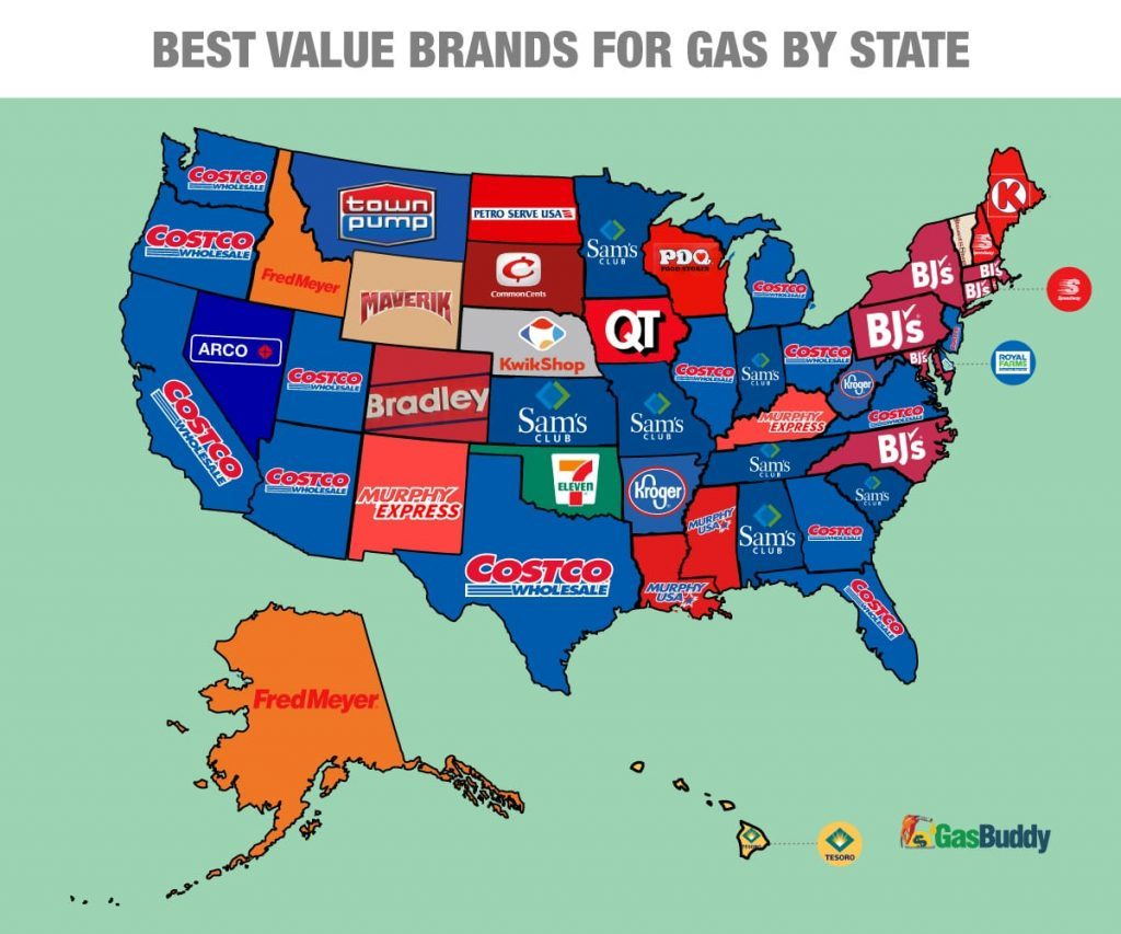 cheapest gas prices by state
